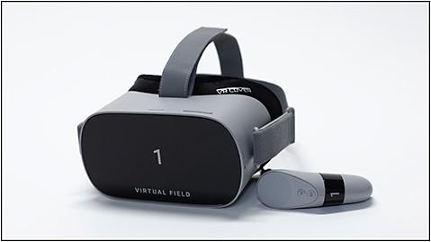 Figure 1. Virtual Field virtual reality headset (Virtual Field Inc.).